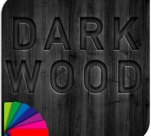 Dark Wood Theme with Icons android
