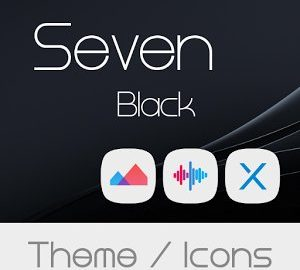 Seven Black Theme Icons android
