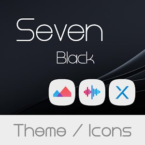 Seven Black Theme + Icons APK Free Download - Android Apps