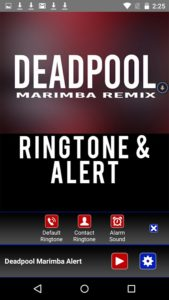 Deadpool Marimba Ringtone android free
