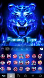 Flaming Tiger Kika Keyboard android free