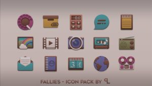 Fallies Icon pack fall theme android free