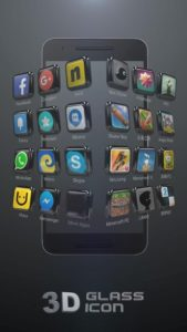 Glass Tech 3D Live Theme apk free