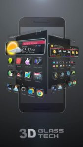 Glass Tech 3D Live Theme android free