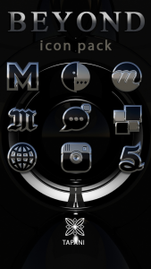Beyond black platin icon pack HD 3D apk free
