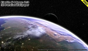 Earth & Moon in HD Gyro 3D PRO Parallax Wallpaper apk free