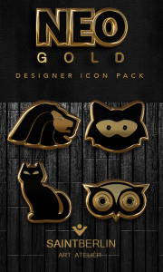 Neo Gold Icon Pack apk free