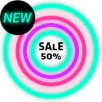 Neon Glow Rings – Icon Pack