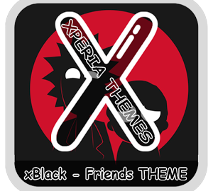 xBlack Friends Theme Apk Free Download